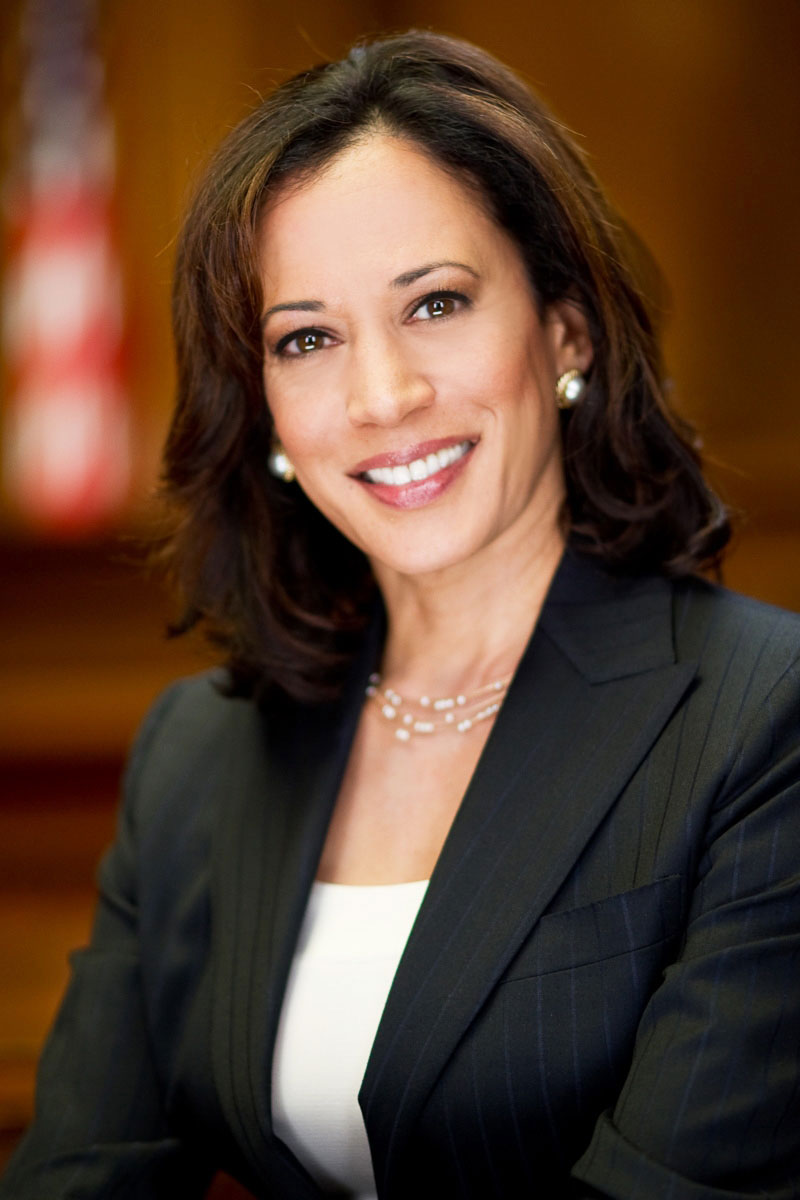 Kamala Harris and her family