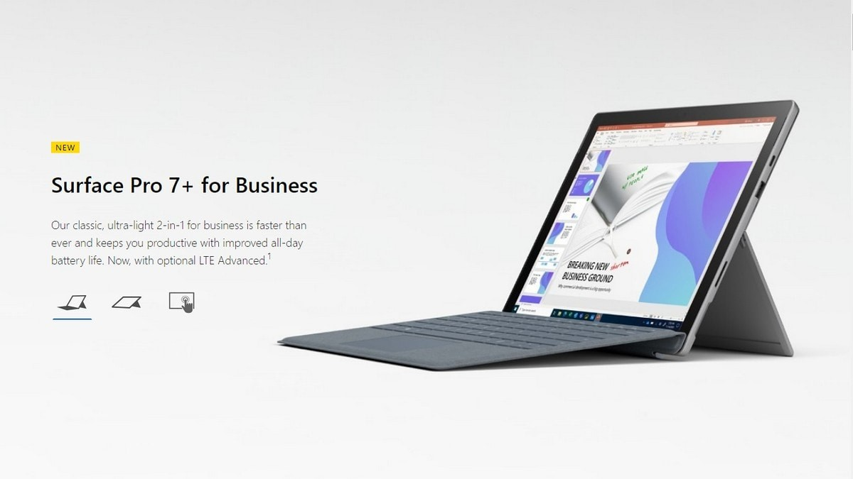 Microsoft launches Surface Pro 7+